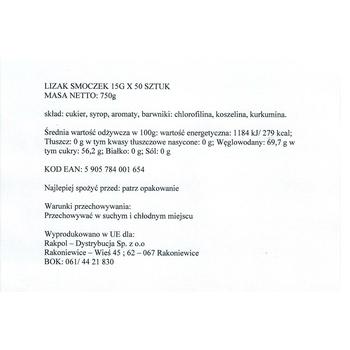 LIZAK SMOCZEK 15G X 50 SZT. - 750G RAKPOL