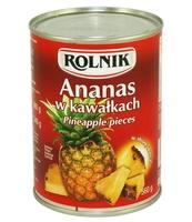 ANANAS W KAWAŁKACH 580 ML ROLNIK