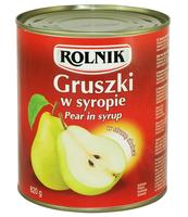 GRUSZKI W SYROPIE 850 ML ROLNIK