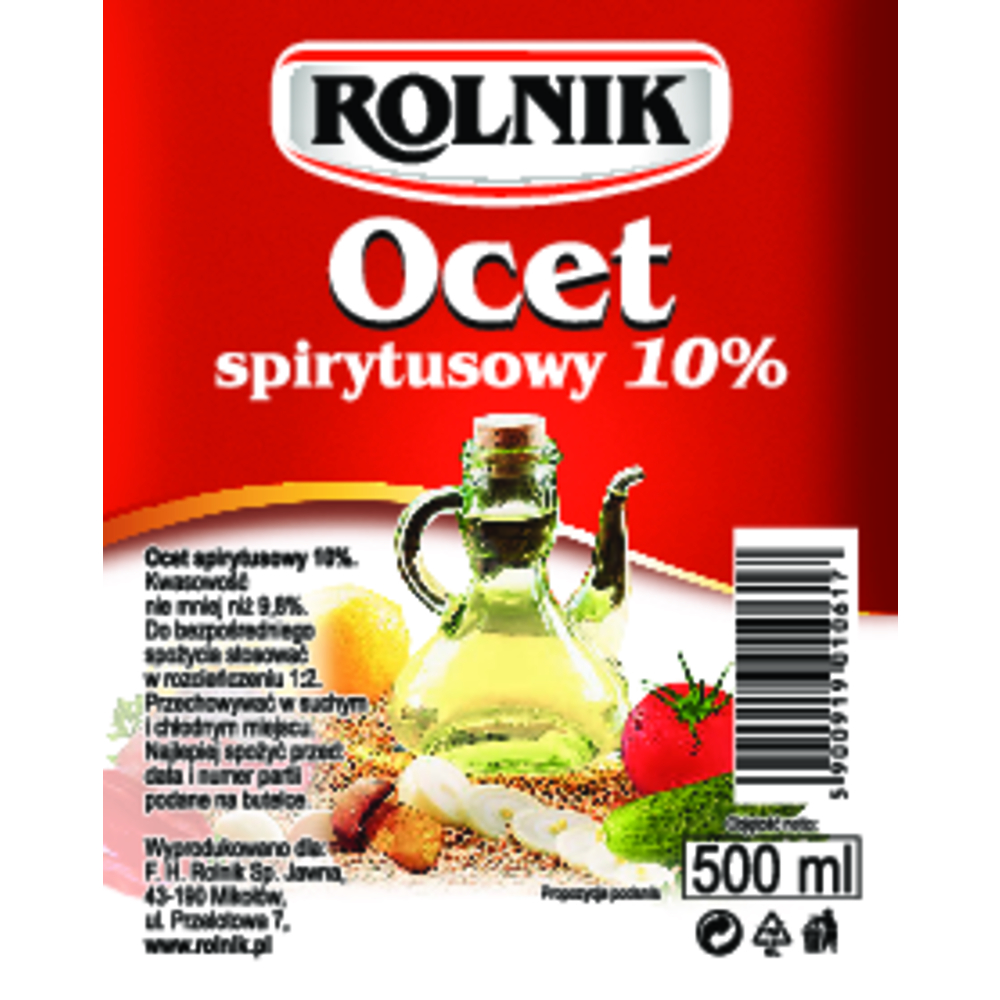 OCET SPIRYTUSOWY 10% ROLNIK 500 ML