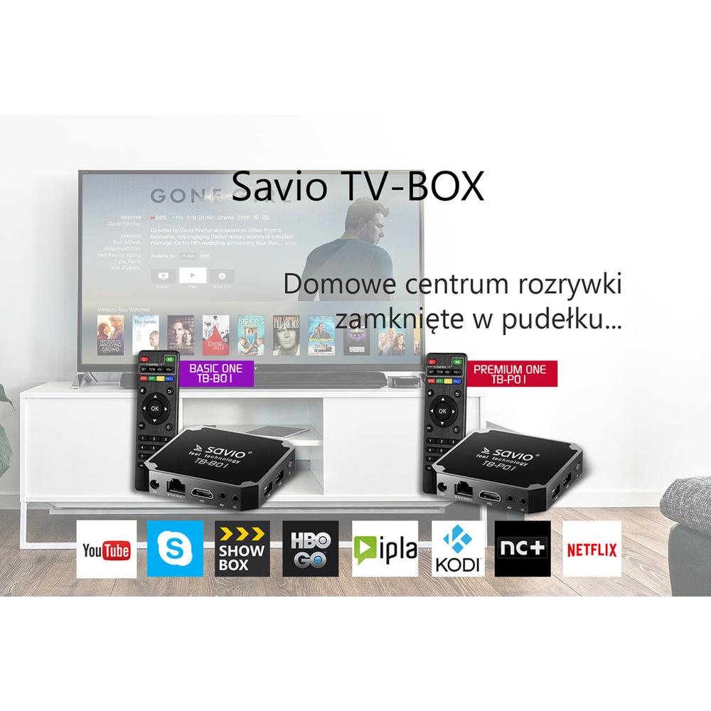 ODTWARZACZ MULTIMEDIALNY SAVIO SMART TV BOX TB-P01 PREMIUM ONE