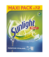 SUNLIGHT TABLETKI DO ZMYWAREK ALL IN ONE 72SZT.