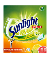 SUNLIGHT TABLETKI DO ZMYWAREK ALL IN ONE CITRUS 52 SZT.