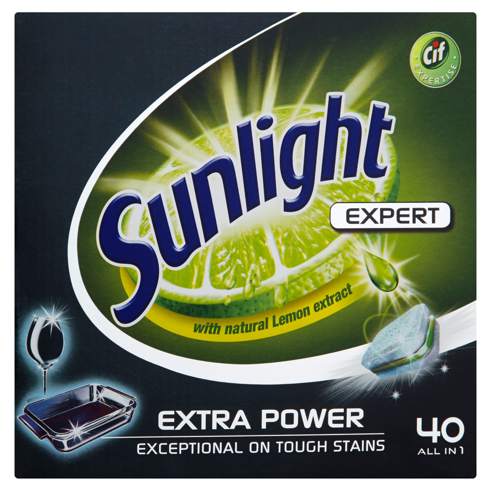 SUNLIGHT TABLETKI DO ZMYWAREK EXPERT 40 SZT.