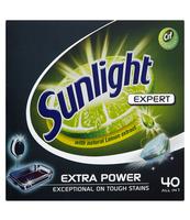 SUNLIGHT TABLETKI DO ZMYWAREK EXPERT 40 SZT.