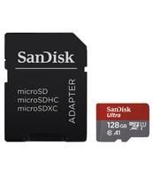 KARTA MICROSD XC SANDISK 128GB ULTRA 100MB/S C10 A1 UHS-I + ADAPTER