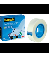 ODKLEJALNA TAŚMA SAMOPRZYLEPNA SCOTCH® REMOVABLE MAGIC™, W PUDEŁKU, 19MM X 33M