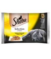 SHEBA SELECTION IN SAUCE SMAKI DROBIOWE 4X85G