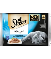 SHEBA SELECTION IN SAUCE SMAKI RYBNE SOS 85G