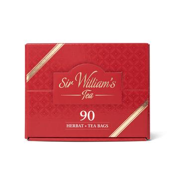 MAŁY TEKTUROWY PREZENTER SIR WILLIAM'S TEA MIX HERBAT 90 SZT, 168G
