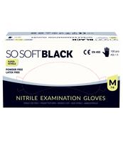 SOSOFT BLACK, RĘKAWICE NITRYLOWE DIAGNOSTYCZNE , ROZMIAR M, 100 SZT