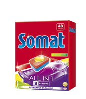 SOMAT ALL IN ONE LEMON&LIME TABLETKI DO ZMYWAREK 48 SZT