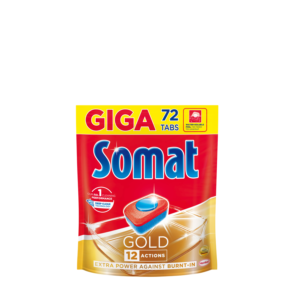 SOMAT GOLD TABLETKI DO ZMYWARKI 72SZT GIGA PACK DOY
