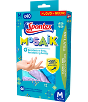 SPONTEX MOSAIK 40SZT ROZM.M RĘKAWICZKI NITRYLOWE