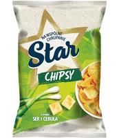 STAR CHIPS PŁASKIE 130G SER CEBULA