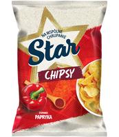 STAR CHIPSY O SMAKU PAPRYKA 220 G