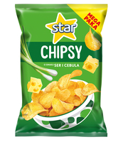 STAR CHIPSY O SMAKU SER I CEBULA 220 G