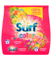 SURF COLOR TROPICAL LILY & YLANG YLANG PROSZEK DO PRANIA 260 G (4 PRANIA)