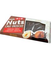 TERRAVITA CZEKOLADA GORZKA Z ORZECHAMI LASKOWYMI 30% NUTS 100G OKIENKO