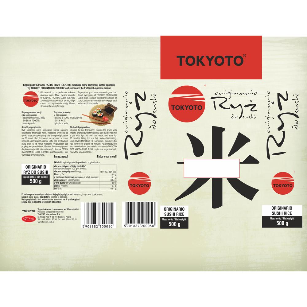 RYŻ DO SUSHI TOKYOTO 500G