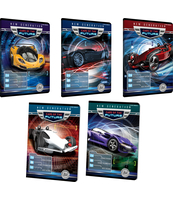 ZESZYT TOP 2000 FUTURE CARS A5 16K 70G LINIA PODWÓJNA KOLOROWA MIX