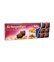 TRUMPF SCHOGETTEN DARK CHOCOLATE WITH PEANUTS 150G