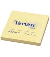 TARTAN™ KARTECZKI SAMOPRZYLEPNE, ŻÓŁTE, 76X76 MM, 100 KARTEK, OPAKOWANIE ZAWIERA 12 BLOCZKÓW