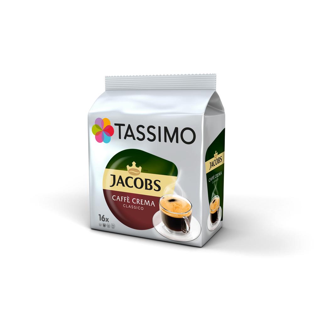 TASSIMO JACOBS CAFFÈ CREMA CLASSICO KAWA MIELONA 16 KAPSUŁEK 112 G
