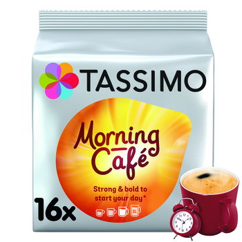 TASSIMO MORNING CAFÉ KAWA MIELONA 16 KAPSUŁEK 124,8 G