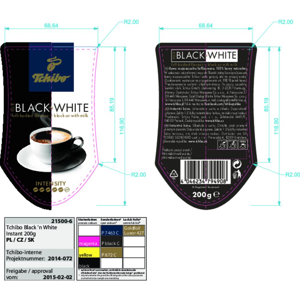 KAWA TCHIBO BLACK & WHITE 200G ROZPUSZCZALNA