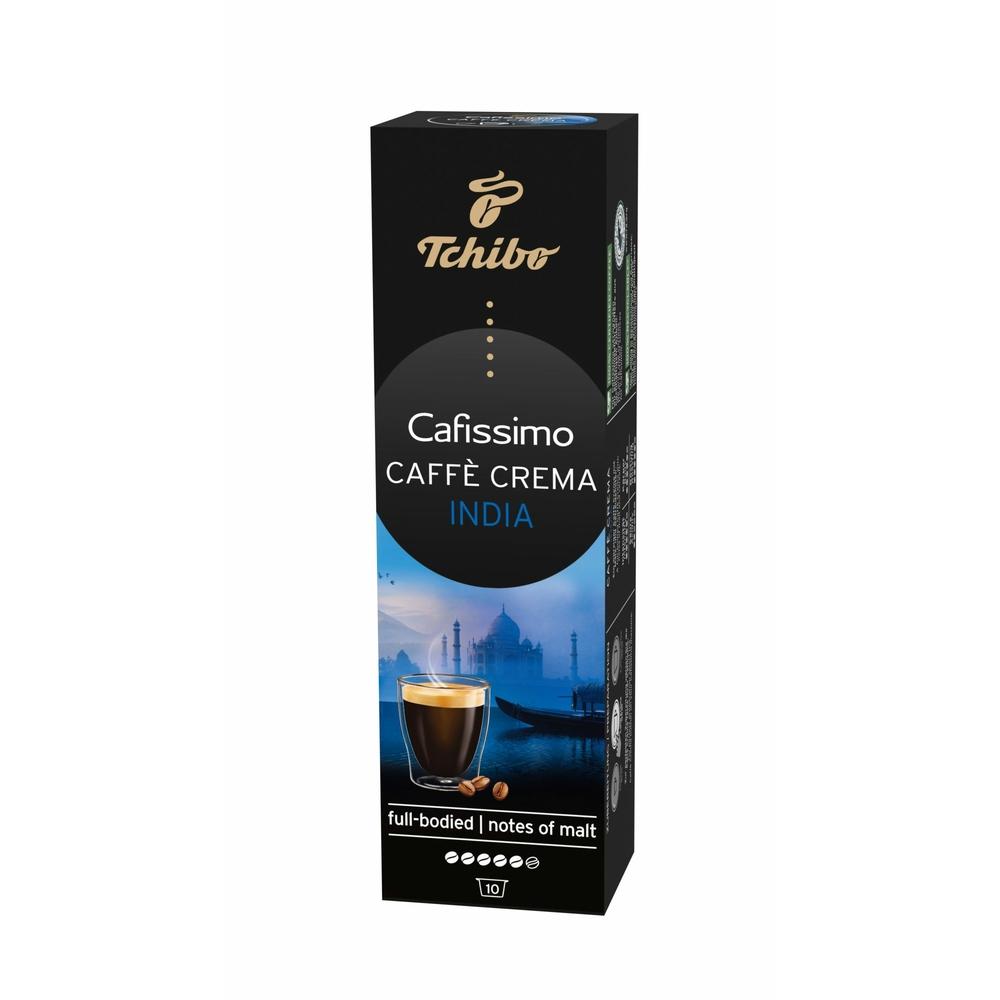 TCHIBO CAFISSIMO CAFE CREMA INDIA SIRISHA KAWA MIELONA W KAPSUŁKACH 5G X 10 KAPSUŁEK