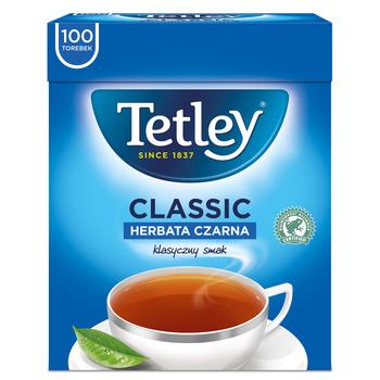 HERBATA TETLEY CLASSIC CZARNA 100 TOREBEK X 1,5G