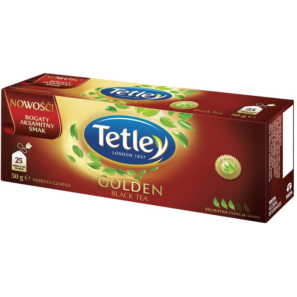 HERBATA TETLEY GOLDEN BLACK 25 TOREBEK X 2G