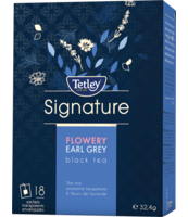 TETLEY SIGNATURE FLOWERY EARL GREY BLACK TEA 18 TOREBEK W KOPERTKACH