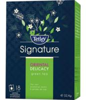 TETLEY SIGNATURE ORIENTAL DELICACY GREEN TEA 18 TOREBEK W KOPERTKACH
