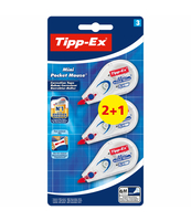 TIPP-EX MINI POCKET MOUSE KOREKTOR W TAŚMIE BLISTER 2+1 SZTUKA
