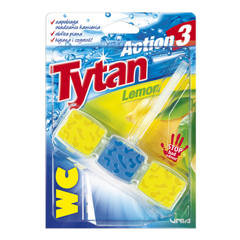 KOSTKA TOALETOWA WC TYTAN ACTION 3 LEMON 45G