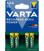AKUMULATOR VARTA RECHARGE ACCU POWER AAA 800 MAH, 4 SZT.