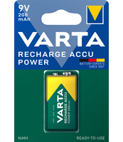 AKUMULATORKI VARTA RECHARGE ACCU POWER 200 MAH 9V