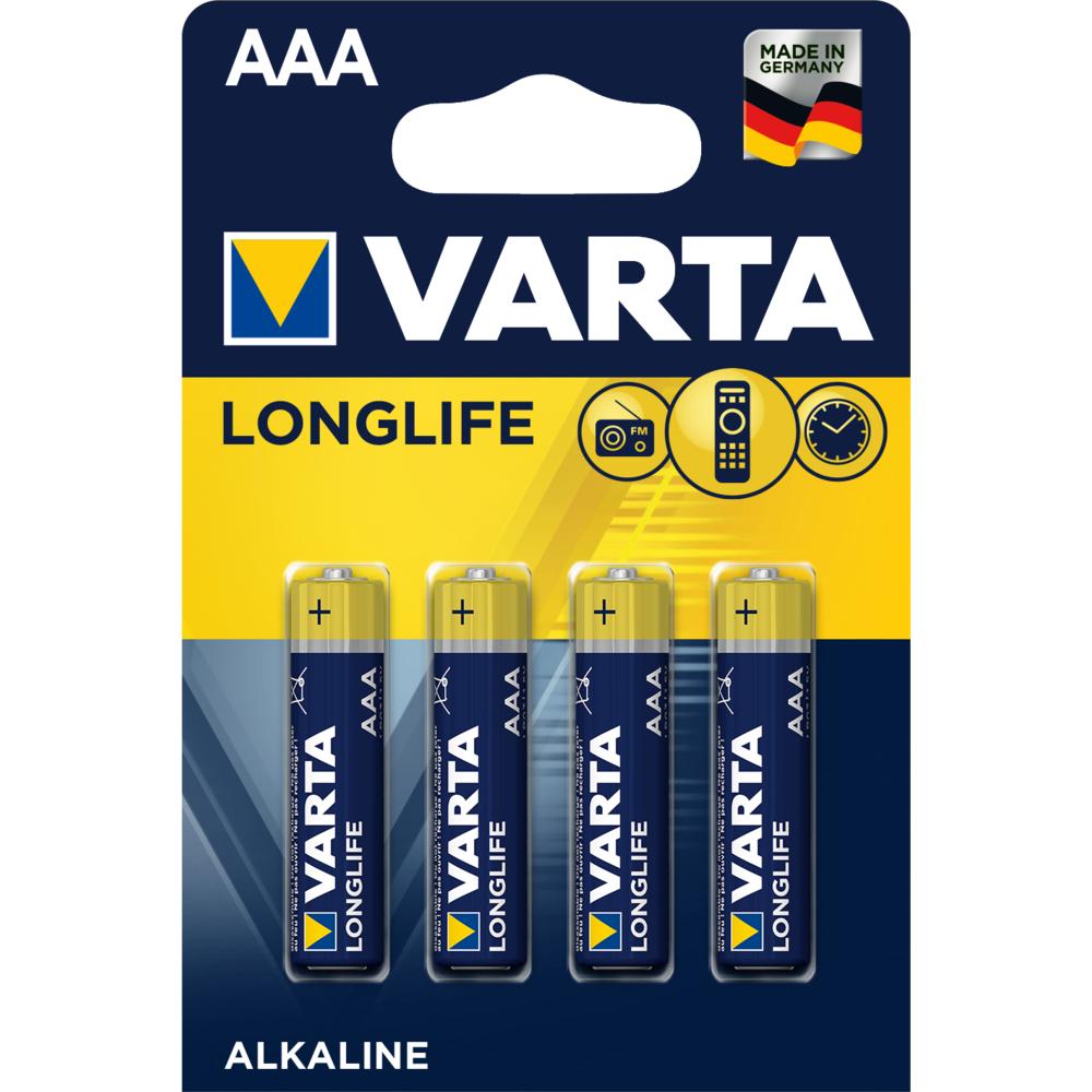 BATERIE VARTA LONGLIFE LR03 AAA BLI4
