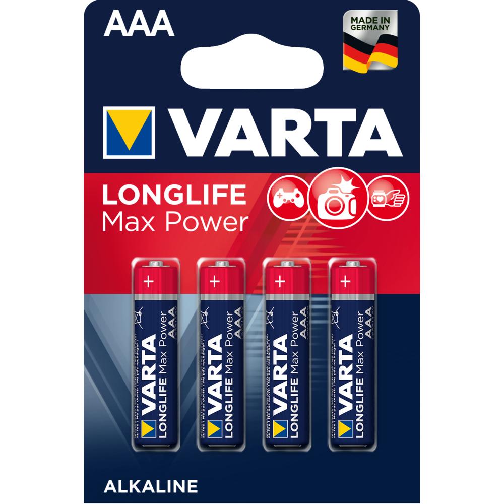 BATERIE VARTA LONGLIFE MAX POWER LR03 AAA BLI4