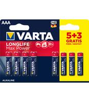 BATERIE VARTA LONGLIFE MAX POWER LR03 AAA BLISTER 5+3