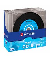 PŁYTA CD-R VERBATIM 700MB 52X DATA VINYL AZO SLIM JEWEL CASE
