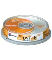PŁYTA DVD+R, 16X, 10 SZT. CAKE BOX VAKOSS DVR+47S10C16