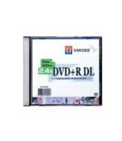 PŁYTA DVD+R VAKOSS DL 8,5GB SLIM DVR+85SS08