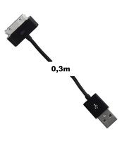 KABEL DO PRZESYŁU DANYCH WHITENERGY MICRO USB 0,3 M CZARNY 09971