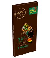 WAWEL CZEKOLADA 74% COCOA ZIARNO KAKAOWE Z GHANY 100G