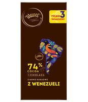 WAWEL CZEKOLADA 74% COCOA ZIARNO KAKAOWE Z WENEZUELI 100G