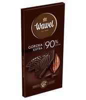 WAWEL CZEKOLADA GORZKA 90% COCOA 100G - KARTONIK