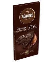 WAWEL CZEKOLADA PREMIUM GORZKA 70% COCOA 100G - KARTONIK